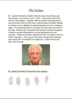 Fingerprint Murder Mystery Activity
