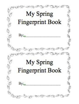 Fingerprint Picture Booklet