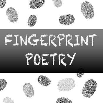 Fingerprint Poetry Writing Template Grades 4-12, Unique writing, Back to School