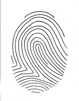 fingerprint paper template - fingerprint poetry writing template grades 4 12 unique