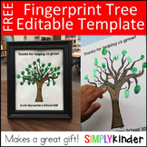 Fingerprint Tree - Editable Gift
