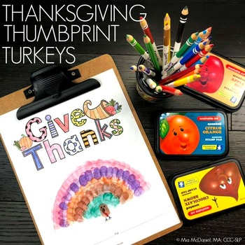 Thanksgiving Thumbprint Turkey Art {FREEBIE!}