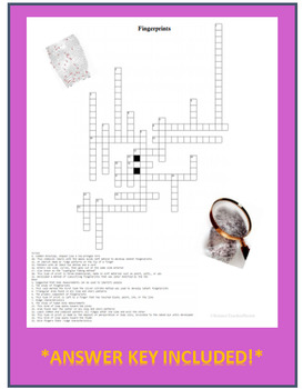 Forensic Fingerprints Crossword Puzzle Review