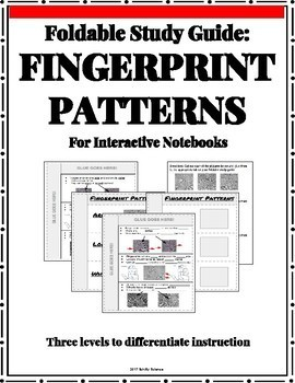 Forensic Fingerprints - Foldable for Interactive Notebooks - Differentiated