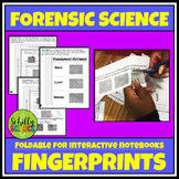 Forensic Science - Fingerprints - Foldable for Interactive Notebooks