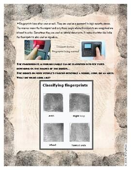 Fingerprints - Forensic Science + hands on activity