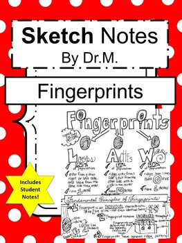 Fingerprints Forensics Sketch Doodle Notes, Teacher's Guide & Student Notes!