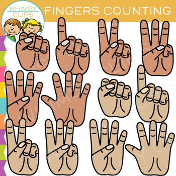 Fingers Counting Clip Art