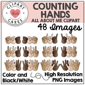 Counting Hands Clipart By Clipart That Cares By Clipart That Cares