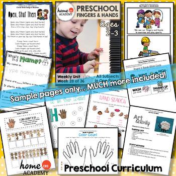 Hands and Arms Preschool Unit - Printables for Preschool, PreK, Homeschool PreK