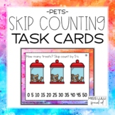 Pets Skip Counting Task Cards