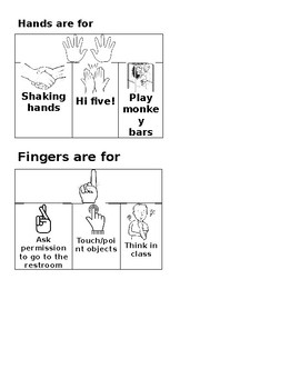 Fingers are for SOCIAL STORY