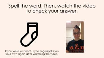 Fingerspelling for Literacy