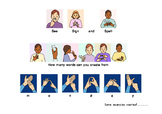 BSL Fingerspelling game - MONDAY (British Sign Language)