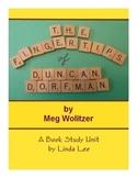 Fingertips of Duncan Dorfman:  A Book Study for Grades 5-8