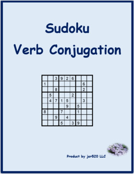 Finir present tense French verb Sudoku