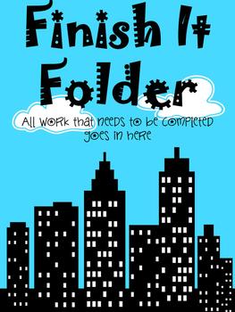 Finish It Folder- Superhero Theme