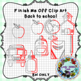 Finish Me Off Back to School Clip art
