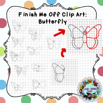 Finish Me Off Clip Art: Butterfly