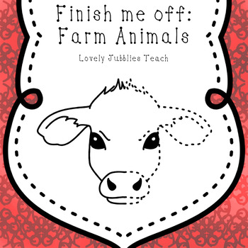 Finish Me Off: Farm Animals Clip Art