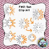 Finish Me Off Mini Set Clip Art: Sun Rays