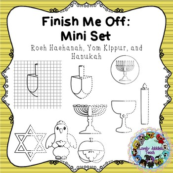 Finish Me Off Mini Set: Rosh Hashanah, Yom Kippur, Hanukah