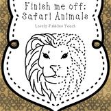 Finish Me Off: Safari Animals Clip Art