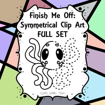 Finish Me Off: Symmetrical Clip Art Full Set