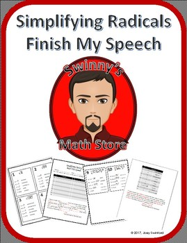Finish My Speech: Simplifying Radicals