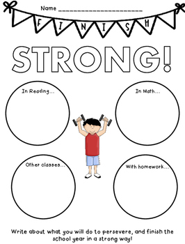 Finish Strong - Setting Goals for Ending the School Year with Perseverance
