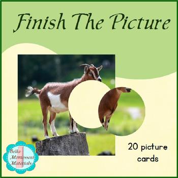 Finish The Picture - Montessori, Preparing to Read