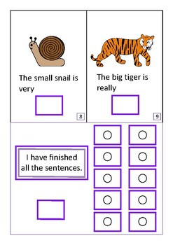 Finish The Sentences Interactive Book- Adjectives, Autism Special Education