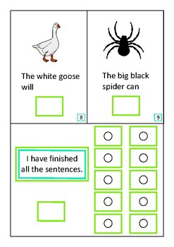 Animals Insects Complete The Sentences Interactive Book Autism Special Education