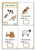 Finish The Sentences Interactive Book- Baby Animals, Autism, Special Education