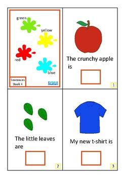 Colors Complete The Sentences Interactive Book Autism Special Education