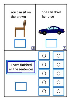 Finish The Sentences Interactive Book- Nouns, Autism Special Education