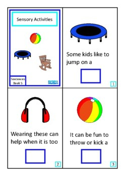 Finish The Sentences Interactive Book- Sensory Activities FREE,  Autism