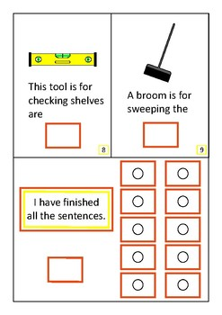 Finish The Sentences Interactive Book- Tools, Autism, Special Education