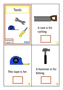 Tools Complete The Sentences Book Autism Special Education