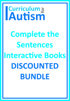 Complete The Sentences Interactive Books BUNDLE, Autism, Special Education