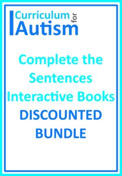 Complete The Sentences Interactive Books Bundle Autism Special Education