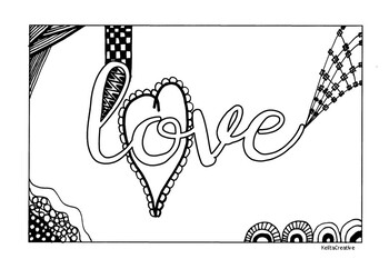 """Finish the word """"LOVE"""" doodle - An all ages printable art or fast finisher task."""