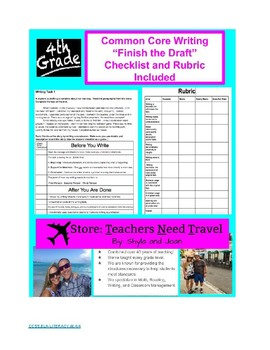 Finish the Draft Common Core Tasks