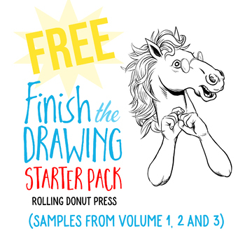 finish the drawing starter pack by rolling donut press tpt