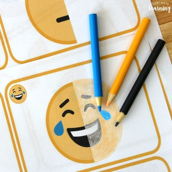 Finish the Drawing Symmetry Activity: Emoji Art!