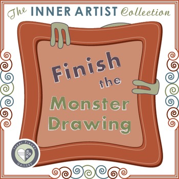 Finish the Monster Drawing for Visual Closure Skills and More