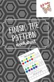 Finish the Pattern Worksheet