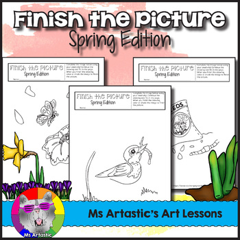 Finish the Picture Bundle, Art Activities for the ENTIRE YEAR