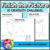 Finish the Picture! Art Lesson