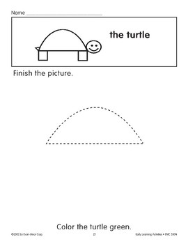 Finish the Picture: The Turtle